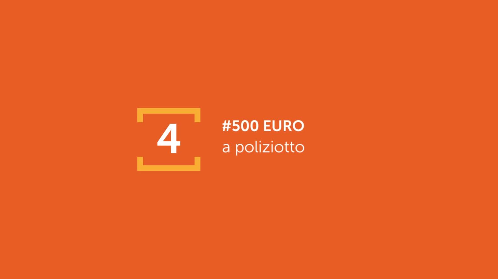 500 euro a Poliziotto