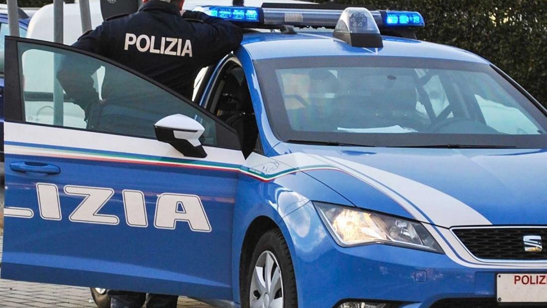 Agente Polizia di Stato in servizio