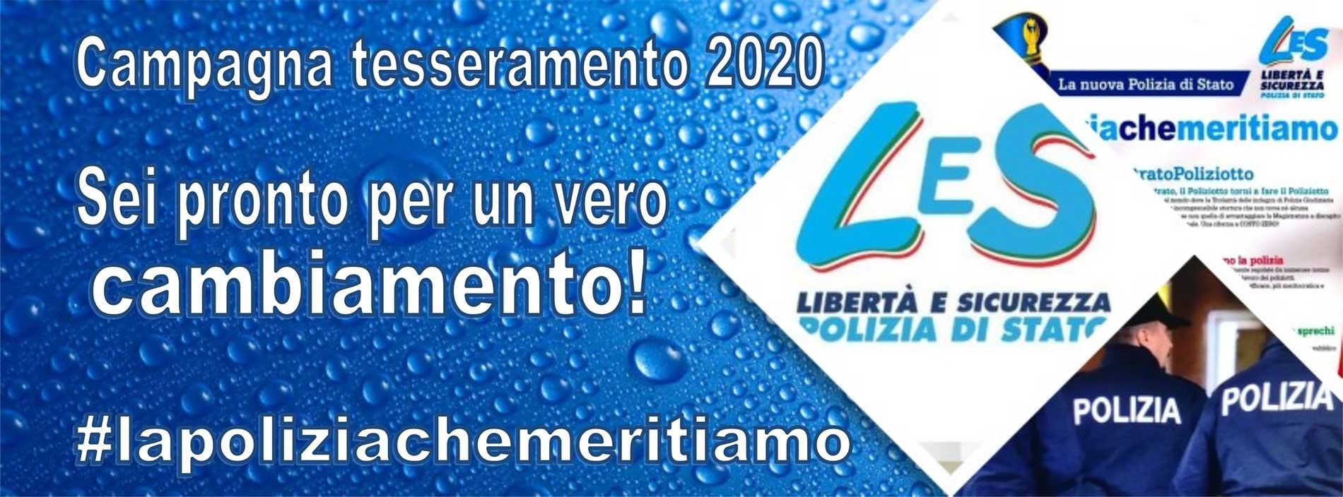 Campagna Tesseramento LeS - Anno 2020