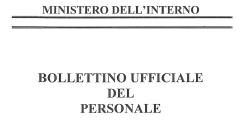 Bollettino ufficiale del Personale
