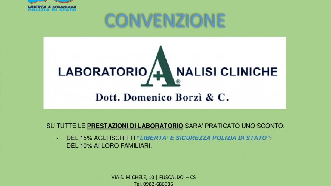 Convenzione laboratorio analisi cliniche Borzì