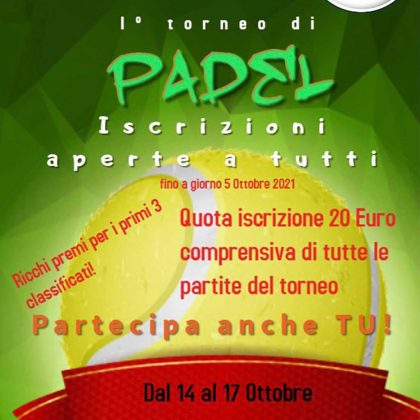 Primo torneo di Padel